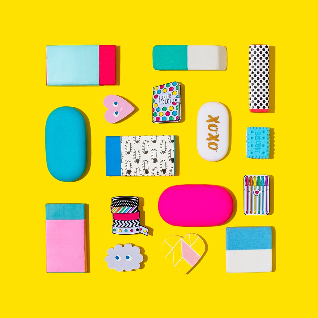 Colourful product photography and content creation for Punky Pins by Marianne Taylor.
