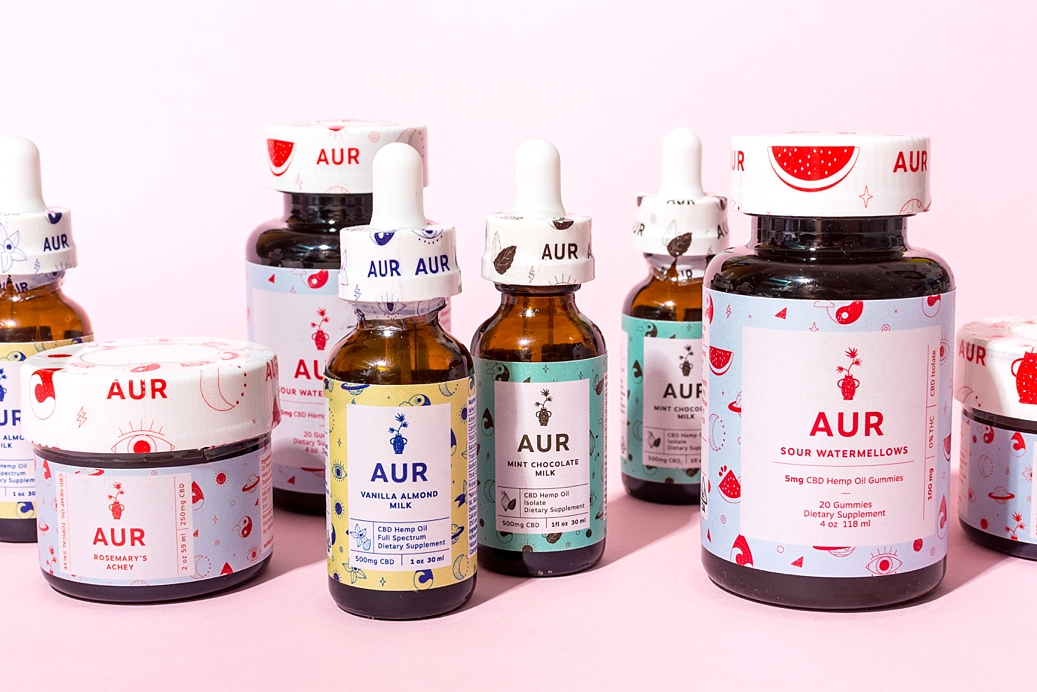 Colourful product photography and content creation for Aurbody by Marianne Taylor.