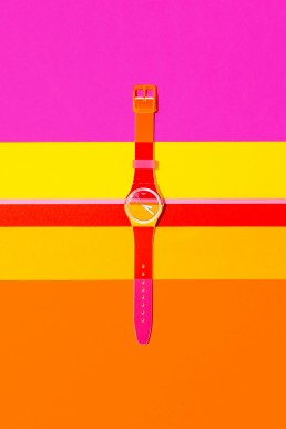 Colourful content and product photography for Swatch by Marianne Taylor.