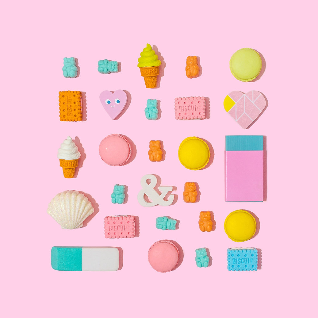 Colourful product photography and content creation for SugarBearHair by Marianne Taylor.