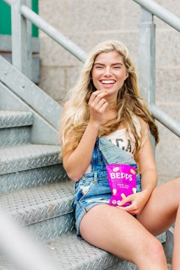 Colourful content creation for Bepps Snacks. Product & lifestyle photography by Marianne Taylor.