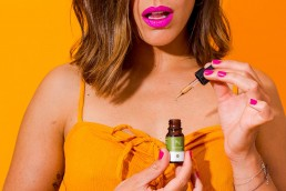 Colourful content creation for Nature & Bloom CBD oil. Styled stills and lifestyle product photography by Marianne Taylor.