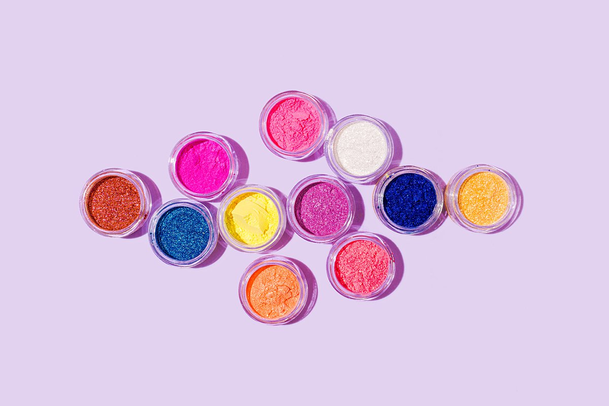 Colourful content creation for Peaches & Cream cosmetics. Styled stills product photography by Marianne Taylor.