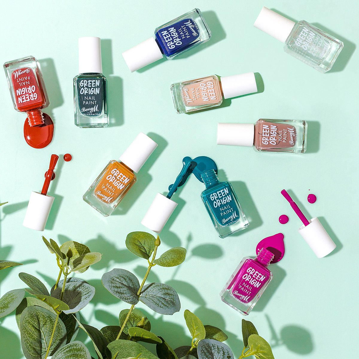 Colourful content creation for Barry M cosmetics. Styled makeup product photography by Marianne Taylor.