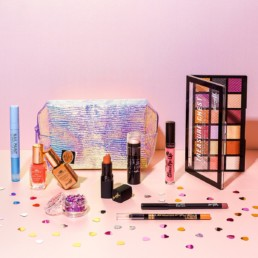 Colourful content creation for Barry M cosmetics. Styled makeup product stills photography by Marianne Taylor.