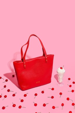 Colourful product photography for GVG accessories line of handbags. Styled stills photography by Marianne Taylor.