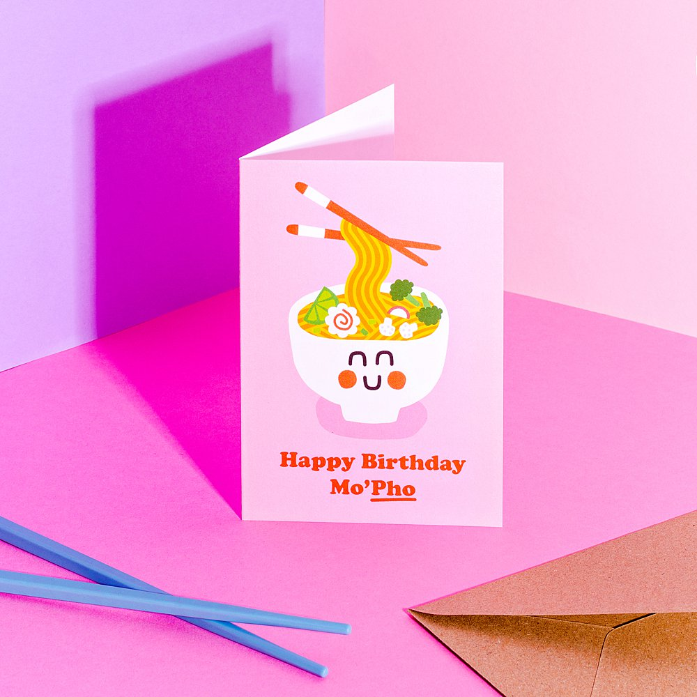Colour-filled stationery product content creation for Studio Boketto. Styled greeting card stills photography by Marianne Taylor.