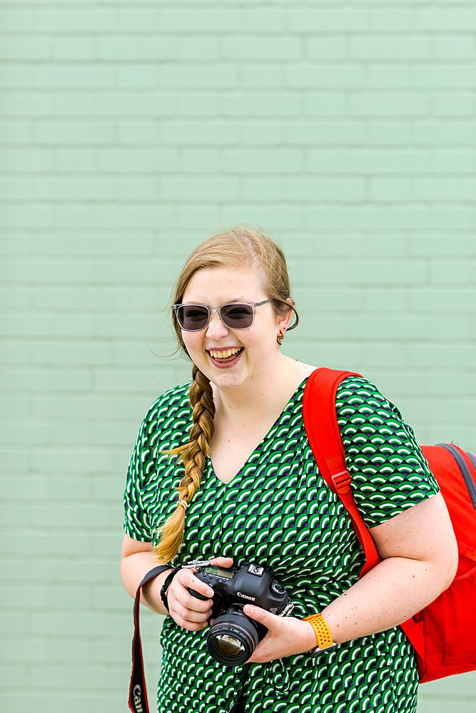 Colourful personal brand photography for Kasha Miller of Snapsha Photography. Personal brand portrait photography by Marianne Taylor.