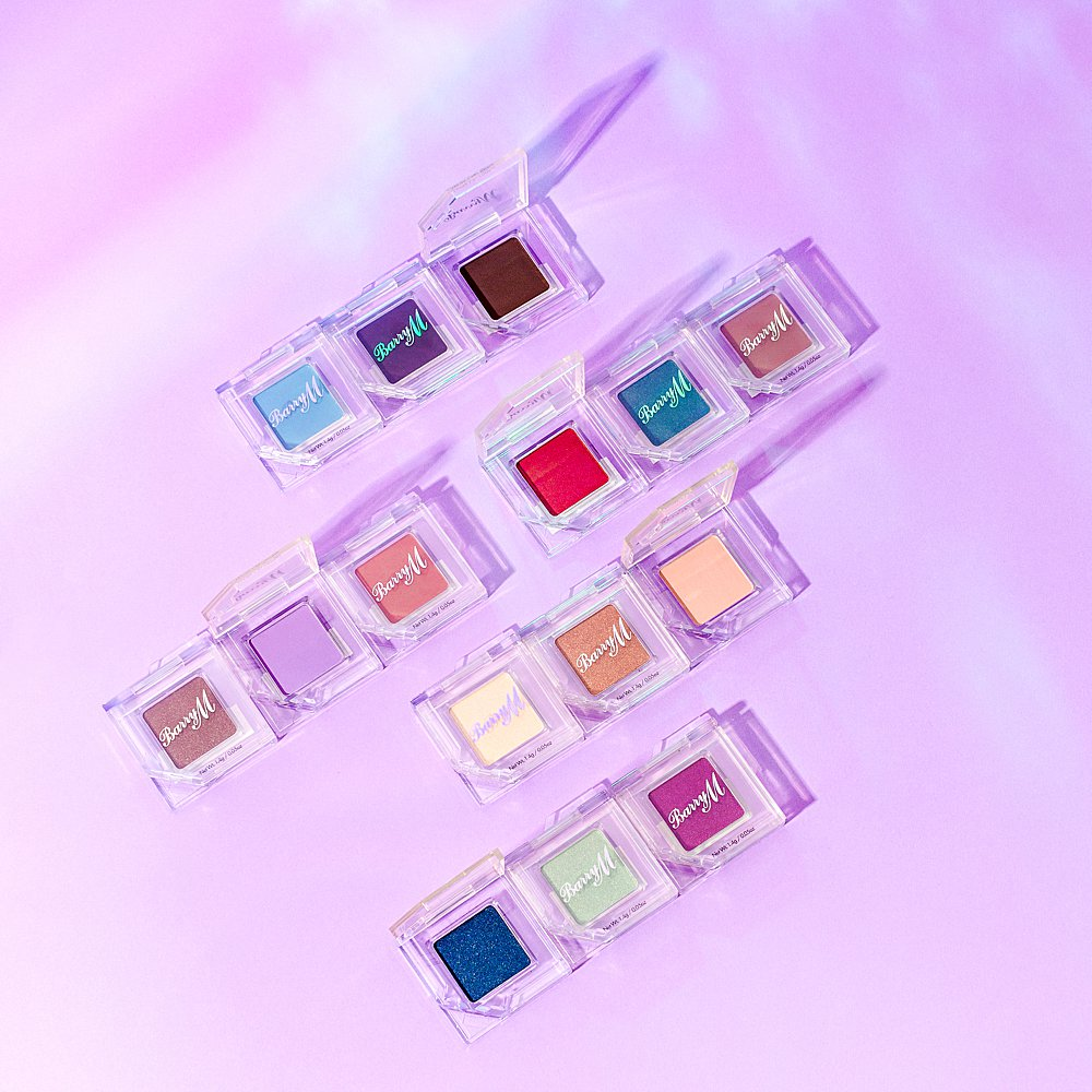 Beauty stills content creation for Barry M cosmetics bursting with colour. Styled makeup and cosmetics product stills photography by Marianne Taylor.