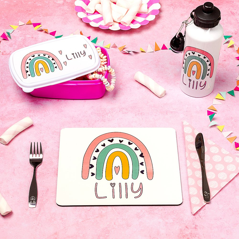 Colourful styled stills photography for Made by Emma personalised kids products. Styled product stills photography by Marianne Taylor.