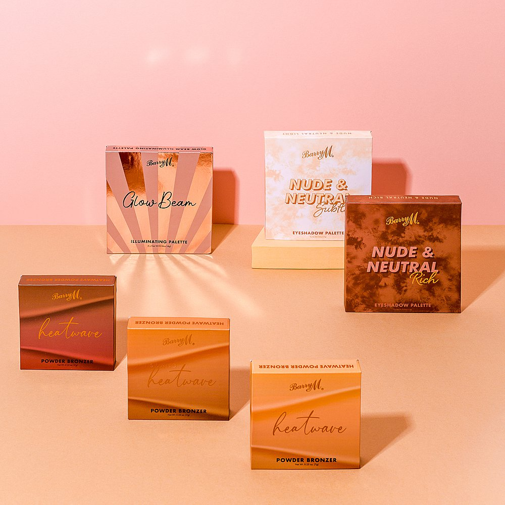 Beauty stills content creation for Barry M cosmetics with pretty colours. Styled makeup and cosmetics product stills photography by Marianne Taylor