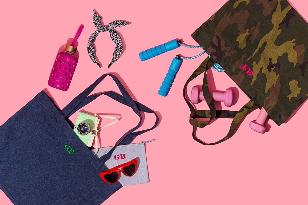 Colourful content creation for Mia and James customised accessories. Styled product stills photography by Marianne Taylor.