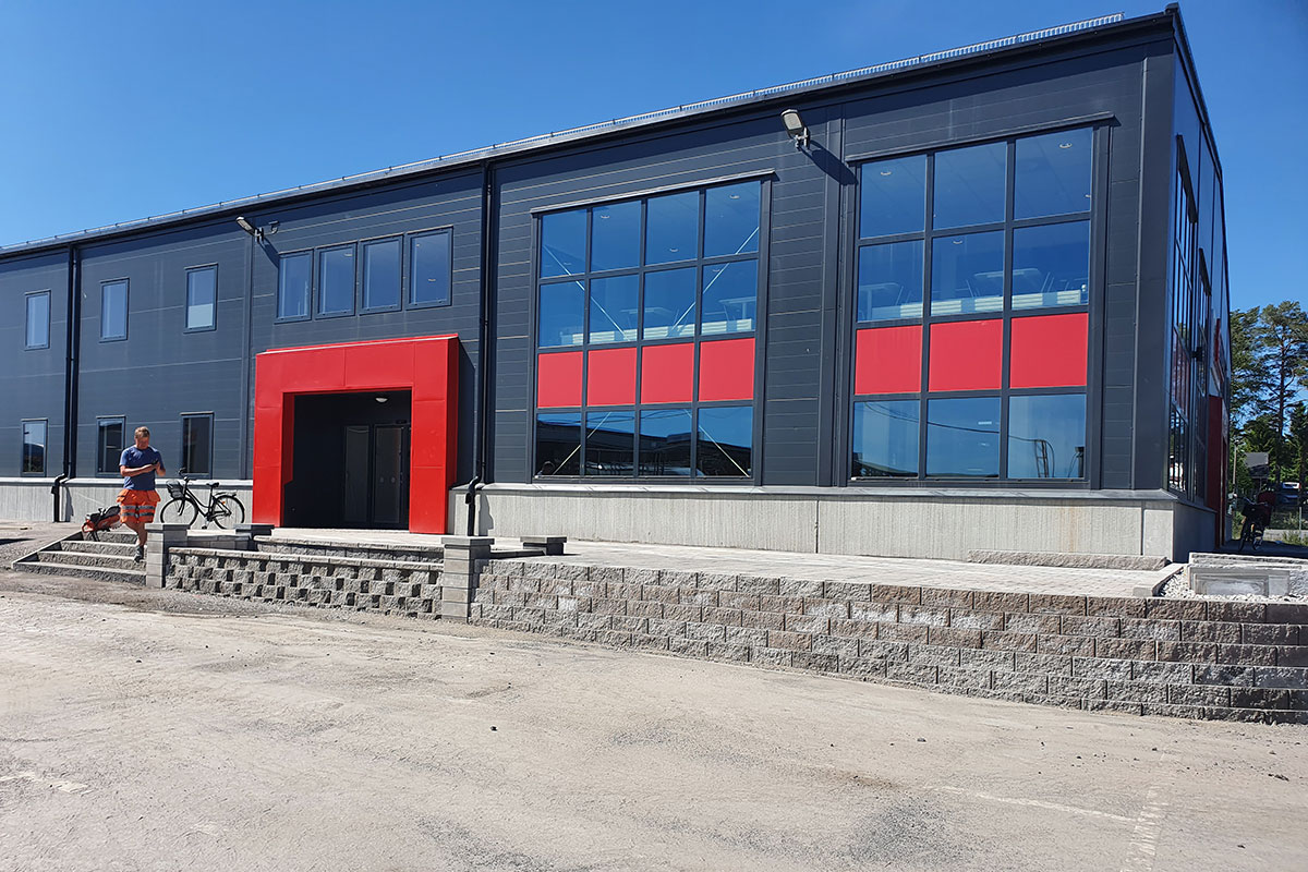 Markstensläggning i Umeå