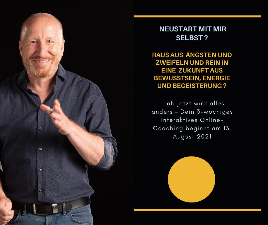 """August-Programm 2021 """"Neustart mit mir selbst"""""""