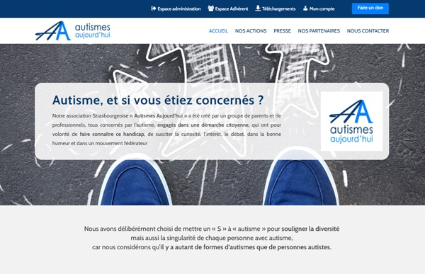 Site internet assoc autismes aujourdhui