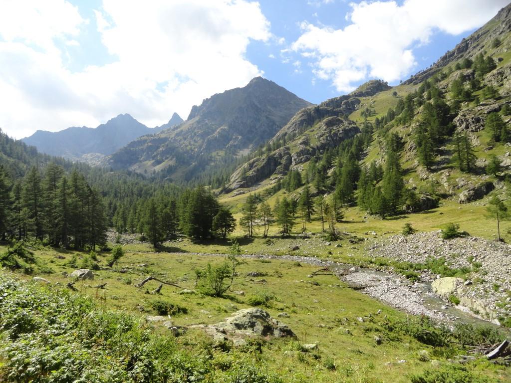 Vallon de Casterino tussen Casterino en Refuge de Valmasque (Foto genomen om 14.45 uur)