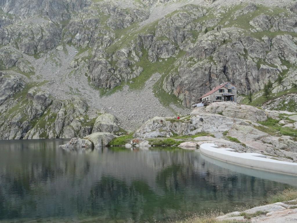 Eindpunt dag 1: Refuge de Valmasque op 2233 meter hoogte