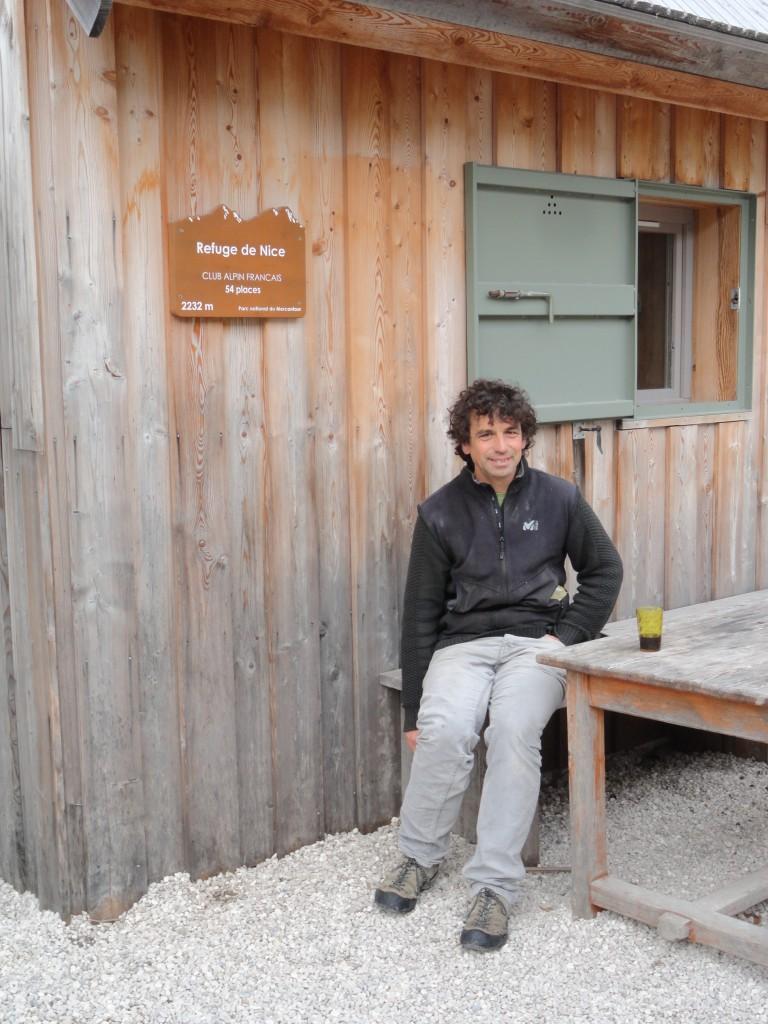 Uitbater Christophe Fournier van refuge de Nice