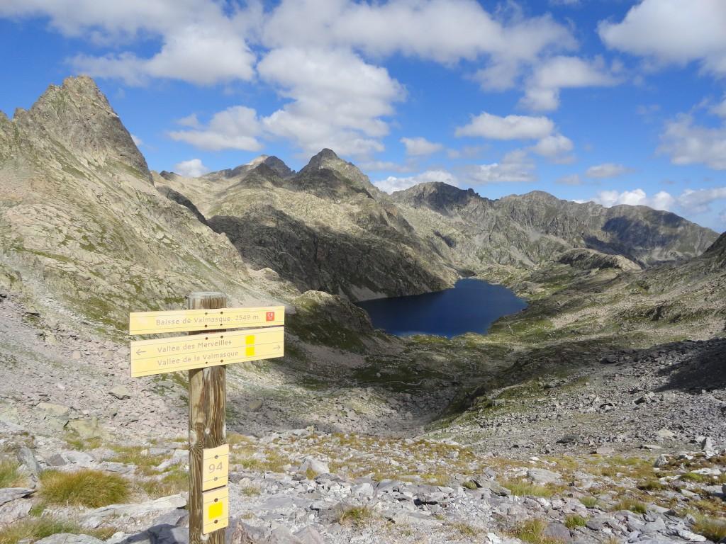 Het hoogste punt van de 3-daagse trektocht in september 2015 bevond zich halverwege de 2de dag: de Baisse de Valmasque op 2549 meter hoogtte.