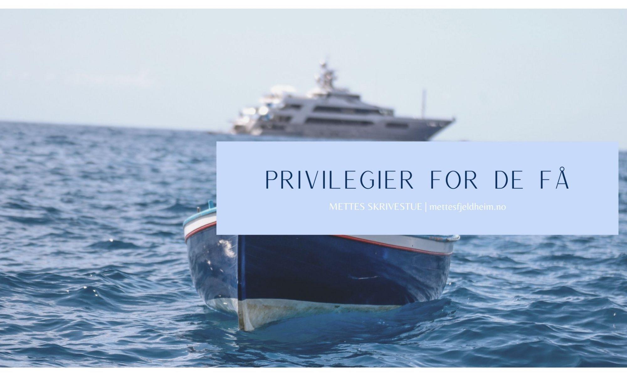 illustrasjon Privilegier for de få