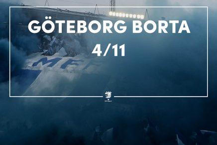Göteborg borta 4/11