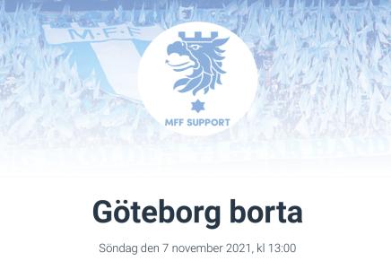 Res med MFF Support till Göteborg