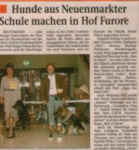"""Hier wurde ich Weltsieger mit meinem Beauceron - Rüden """"ARAMIS CHATEAU SCHÖNWALD """""""
