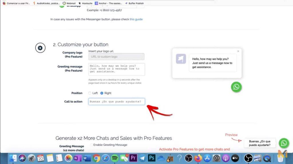 tutorial botón Whatsapp