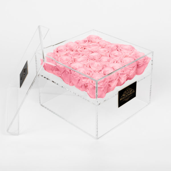 Infinity Box with Pink Rose | Millionbox.se