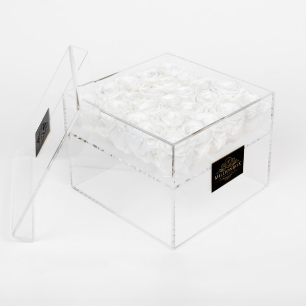 Infinity Box with Snow Rose | Millionbox.se