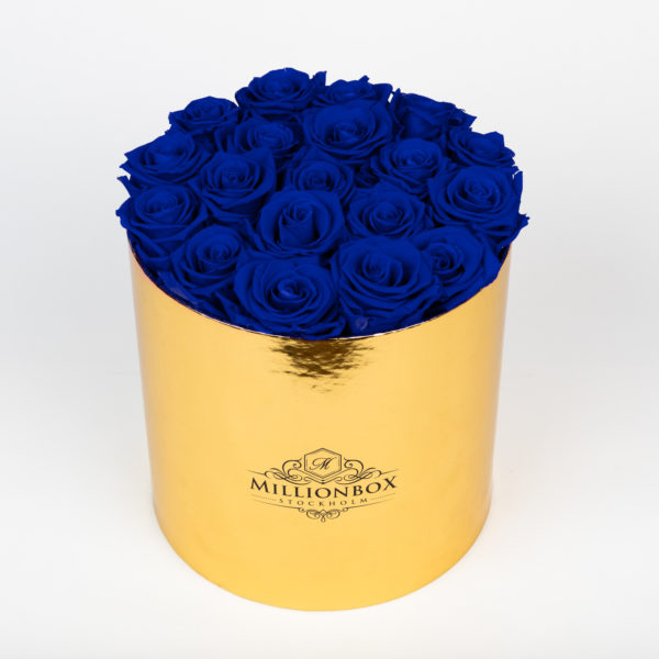 Lavinia Gold with Blue Rose | Millionbox.se