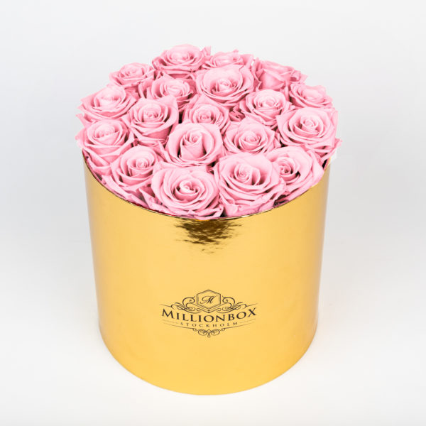 Lavinia Gold with Pink Rose | Millionbox.se