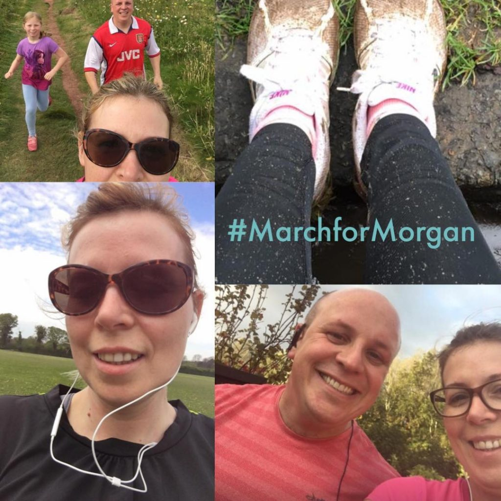 An image of runners for #MarchforMorgan to raise funds for Morgan's Wings
