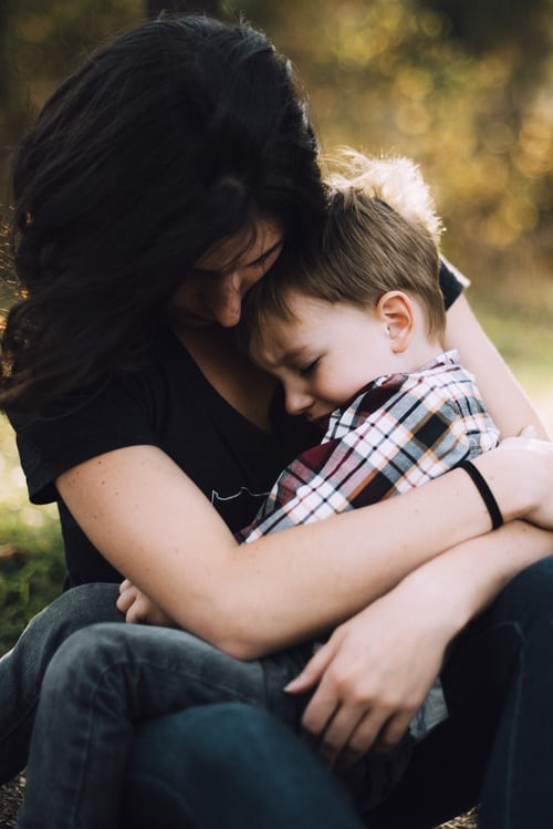 a mum talking to her child after a miscarriage