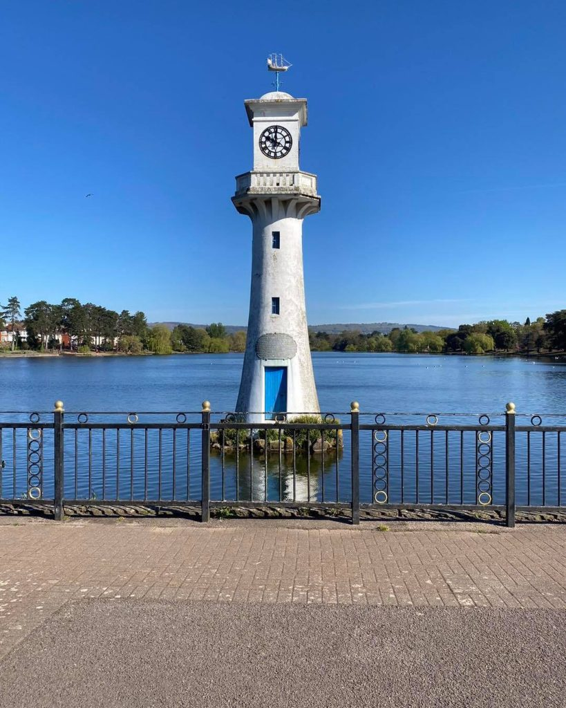 Roath Park Lighthouse which will be lit up pink and blue for baby loss awareness