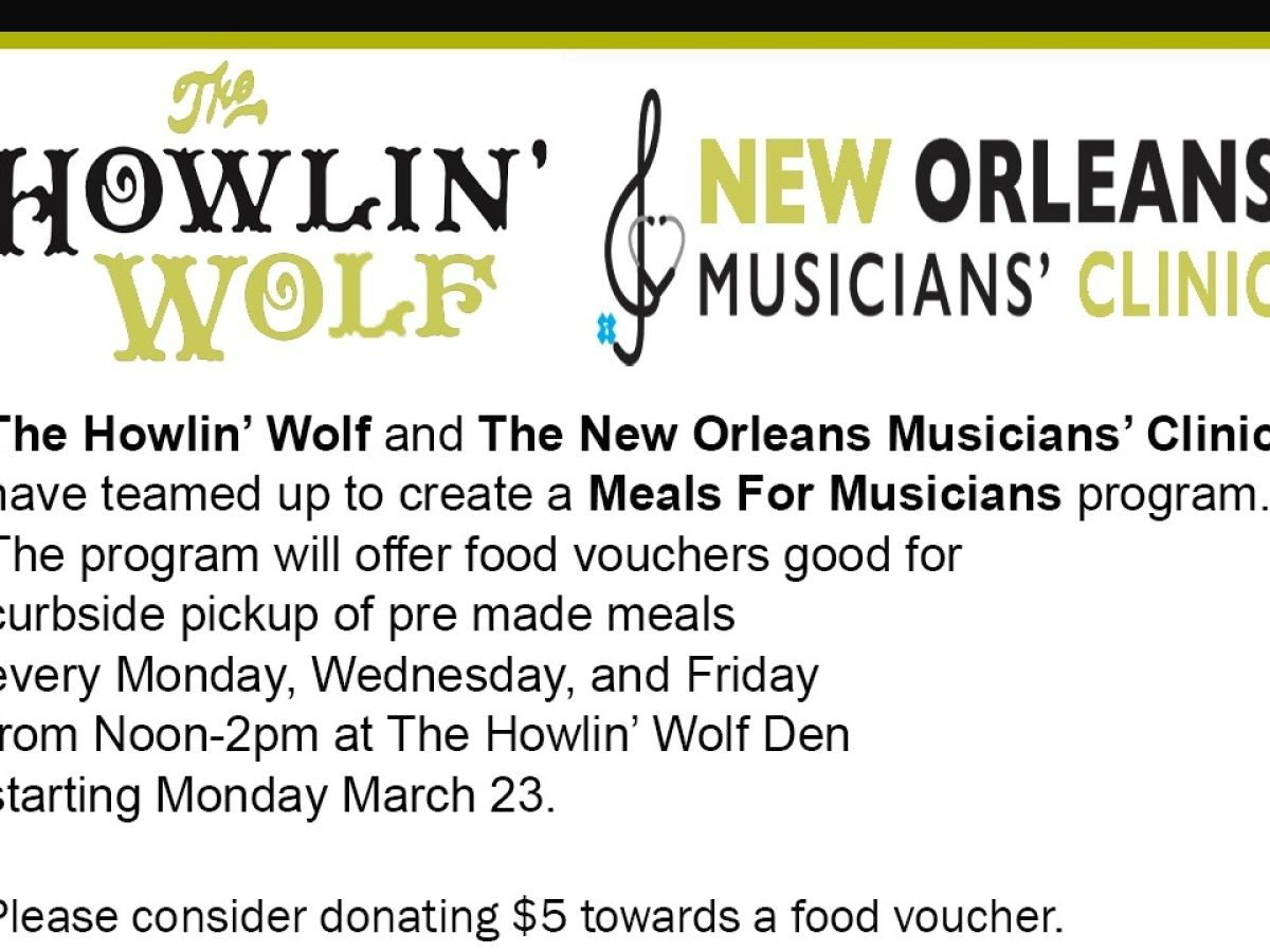 Meals For Musicians Help To Provide Food Assistance (New Orleans)