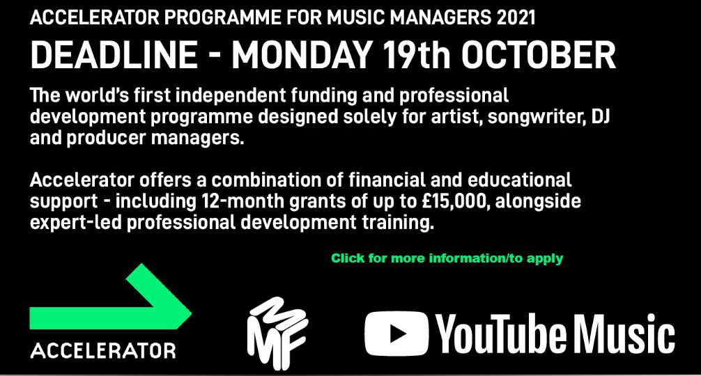 THE ACCELERATOR PROGRAMME FOR MUSIC MANAGERS