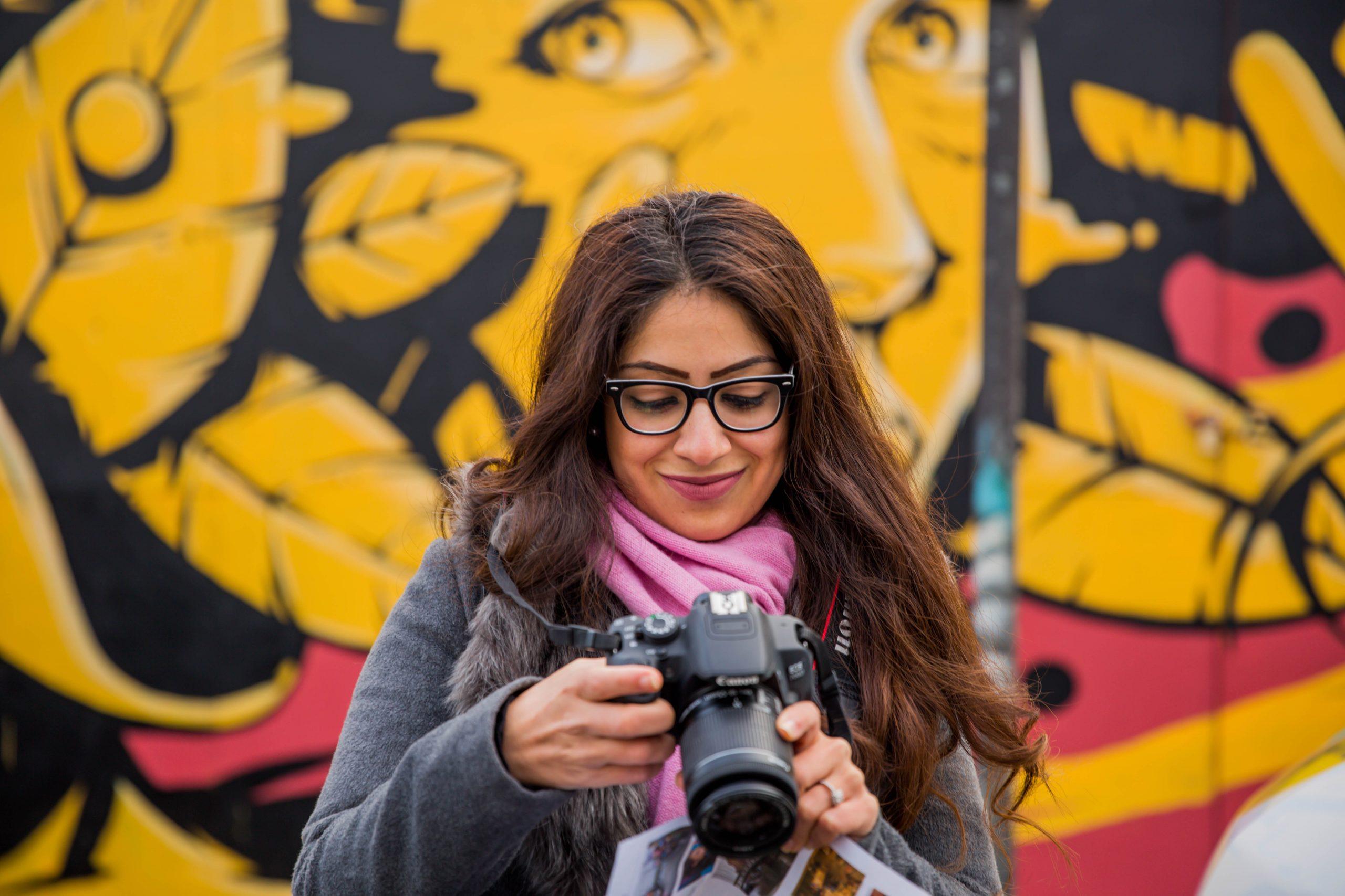 Women and camera