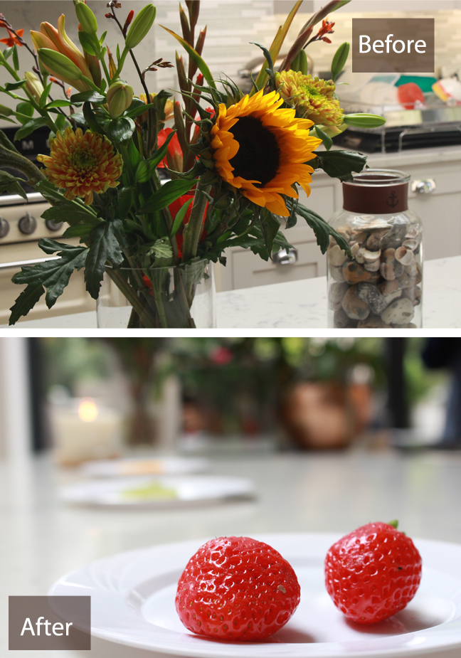 photos showing depth of field