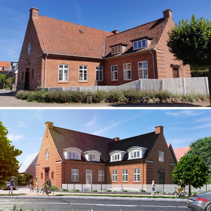 Renoveringsprojektet investeringsejendom den gamle kirke