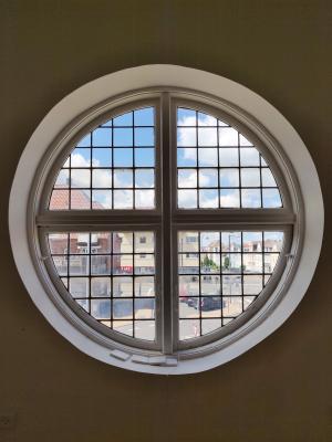 rund cirkel vindue - med lys