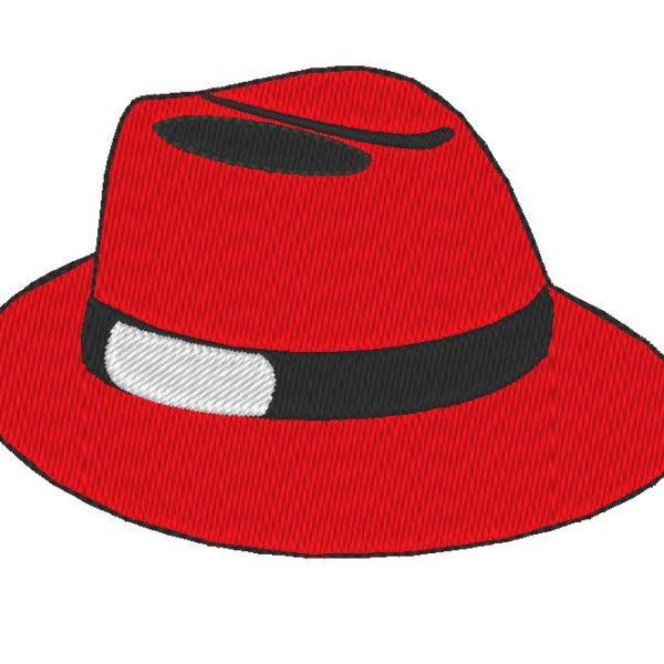 disegno del ricamo macchina cappello rosso