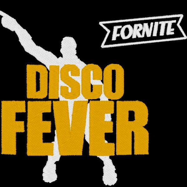 febre disco fornite bordado design máquina de videogame