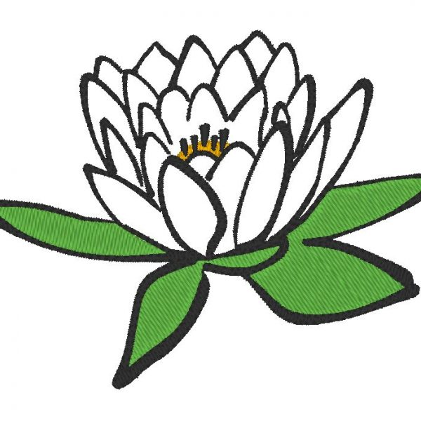 máquina de bordar patrón de flor de loto