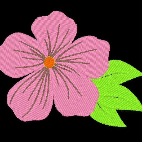 desenho de bordado à máquina de uma rosa