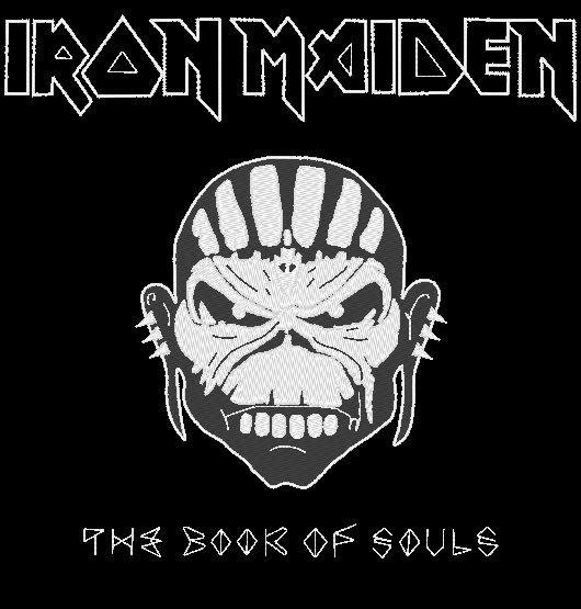 iron maiden the book of souls embrodery machine design ,motif de broderie machine