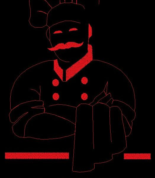 chef sì modello di macchina da ricamo chef
