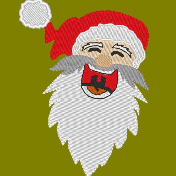 Padrão de máquina de bordado hilariante de Papai Noel