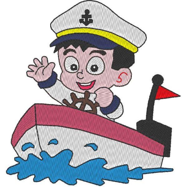 pequeño patrón de bordado marinero