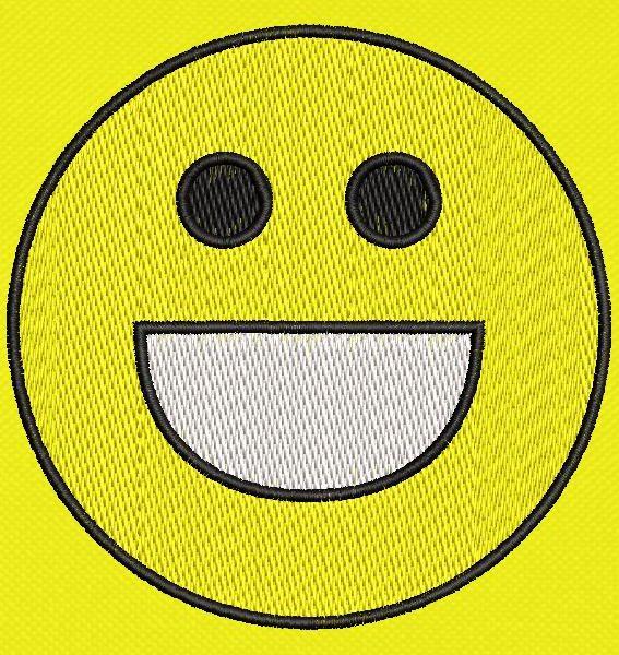 emoticon felice Cornice per ricamo a macchina 10 x 10 Formati file PES, CSD, EXP, HUS, SHV, VIP, XXX, DST, PCS, JEF, VP3, SEW, EMB ... Download immediato
